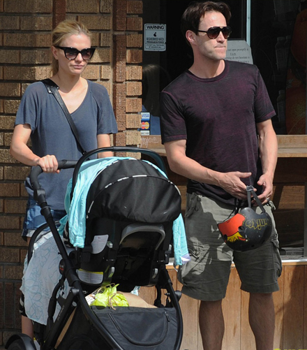 Anna Paquin with her husband and baby