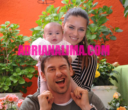 Adriana Lima, Marco Jaric and baby Valentina