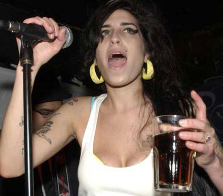 Amy Winehouse is an alcoholic now