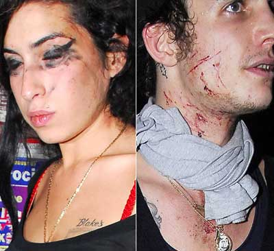 Amy Winehouse and ex Blake Fielder