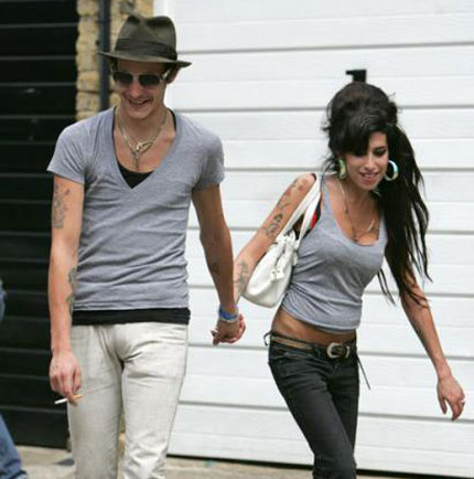 Amy Winehouse on lunch with Blake