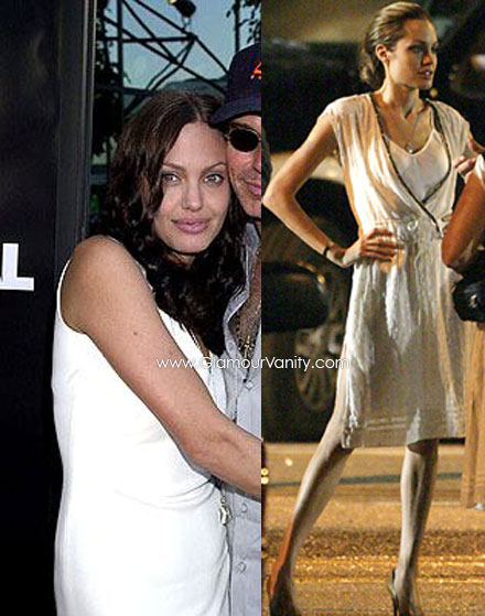 Angelina Jolie's weigt battle - -from plump to frail