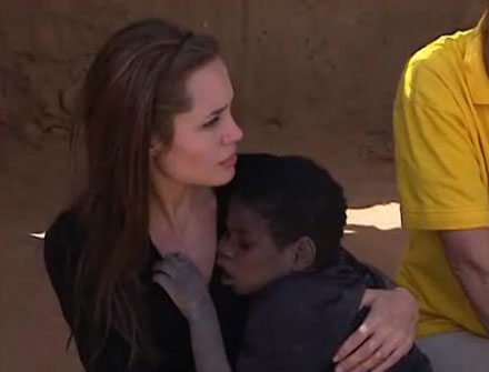 Angelina Jolie is a UNCHR Ambassador for refugees