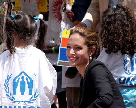 Angelina Jolie is a UNCHR Goodwill Ambassador since 2001