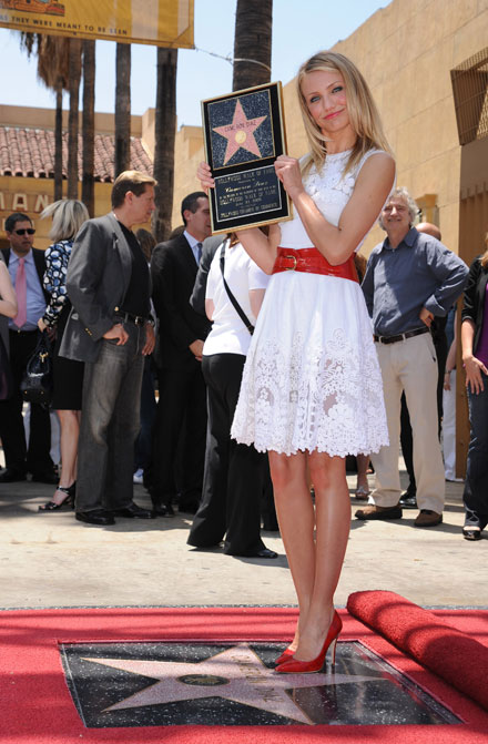 Cameron Diaz was honored with a star on the Hollywood Walk of Fame