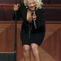 Fake Tan Disgrace: Christina Aguilera Left Blushed After Performance at Etta James&#8217; Funeral