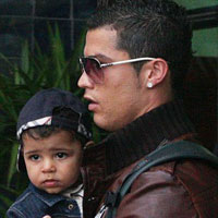 Cristiano Ronaldo and his mini-me son pictured together for the first time