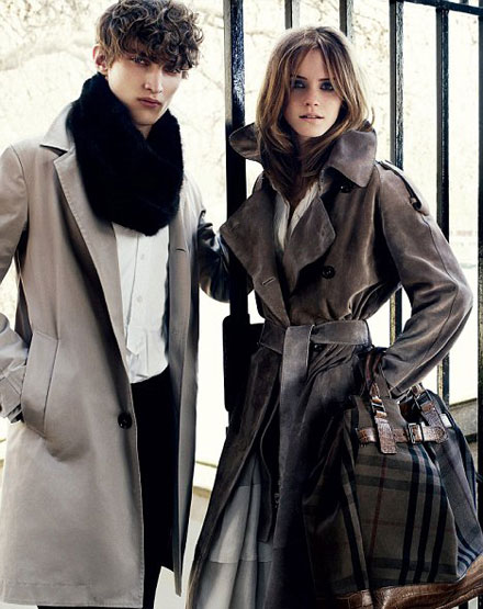Emma Watson is hot in Burberry Autumn/Winter 2009-2010 ad campaign