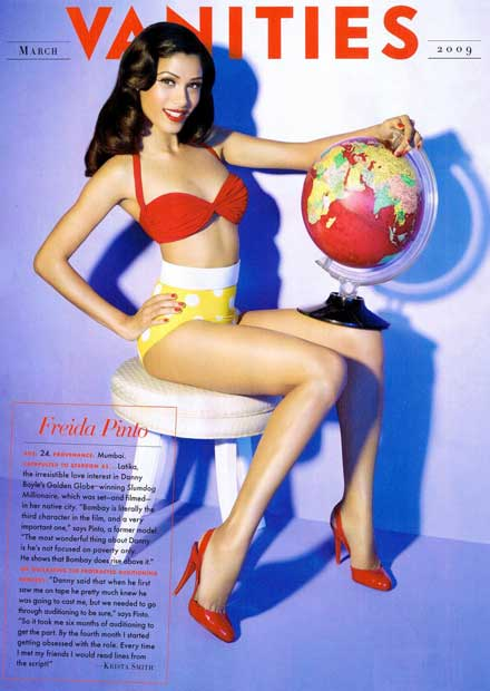 Freida pinto is No. 10 in FHM's World's Sexiest Woman 2009 poll