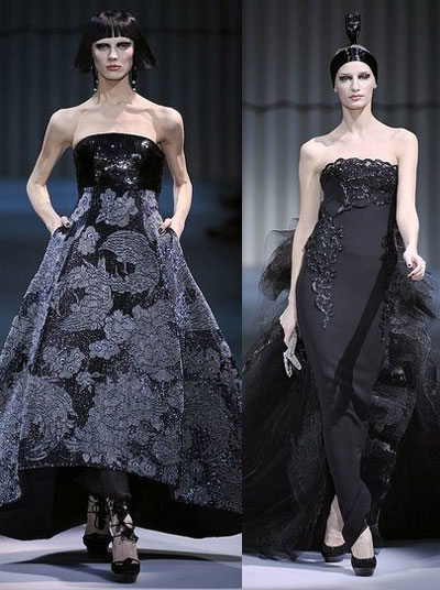Giorgio Armani spring/summer 2009 haute couture collection at Paris Fashion Week