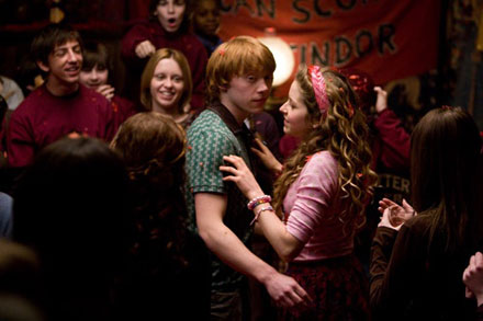 Ron Weasley's love line in new Harry Potter and The Half Blood Prince movie, out July 15, 2009