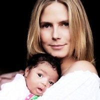 Heidi Klum, Seal debut daughter's first pics