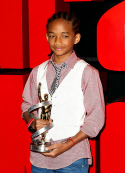 Jaden Smith with award
