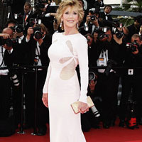 Age-defying: Jane Fonda looks stunning at Cannes Film Festival