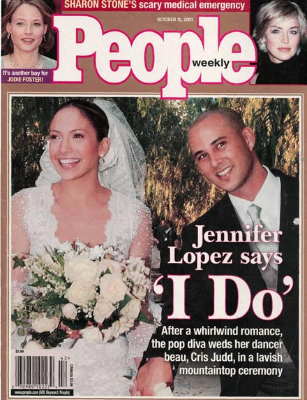 Shortest Hollywood marriages: Jennifer Lopez and Chris Judd