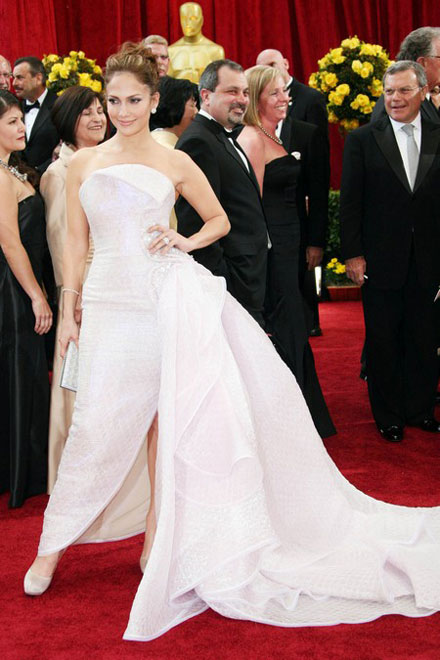 Jennifer Lopez in a Giorgio Armani dress for 2010 Oscars