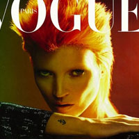 Kate Moss as David Bowie on the French Vogue Cover