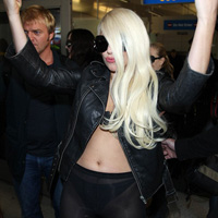 Lady Gaga Arrived Half-Naked and Drunk at LAX