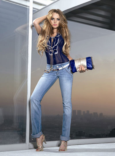 Lindsay Lohan models for Fornarina