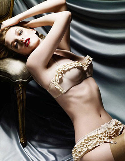 Lydia Hearst was face of Myla lingerie ad campaign in fall/ winter 2008