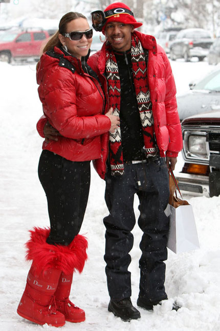 Mariah Carey and Nick in Aspen