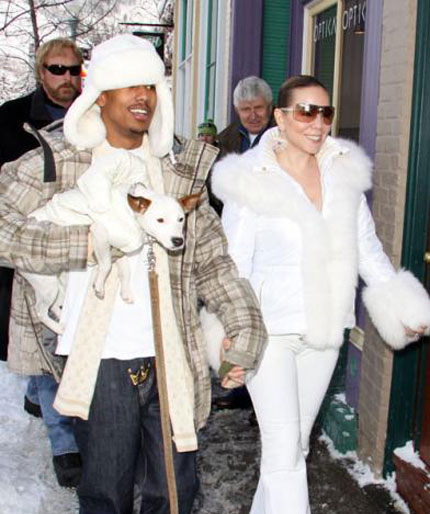 Mariah Carey and Nick Cannon in Aspen, Colorado