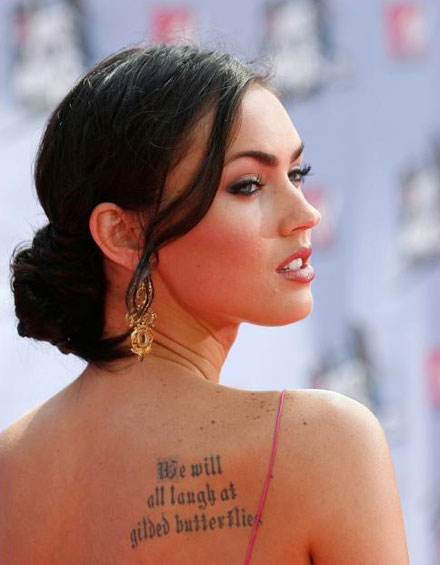 tattoo ideas for men shoulder blade. Megan Fox's shoulder-blade tattoo. Good morning, everyone! Guys, I need you