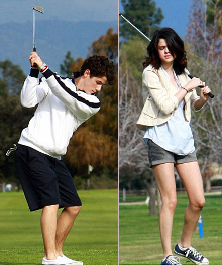 Nick Jonas and Selena Gomes on a golf date