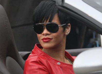 Rihanna Red Jacket