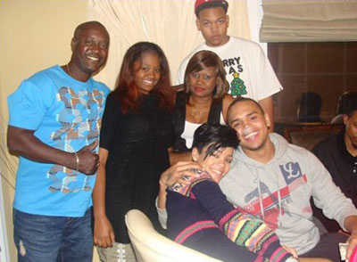 Rihanna spent Christmas 2008 with Chris Brown's family
