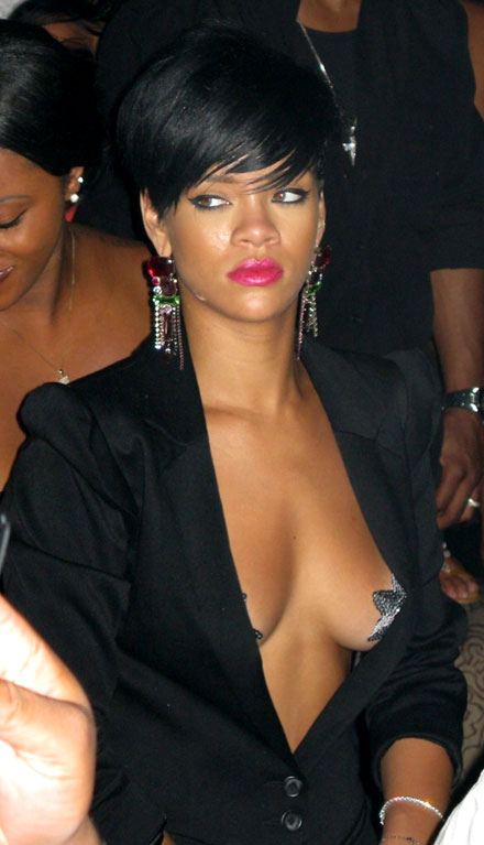 Rihanna showed her nipples while celebrating Independence Day in Las Vegas