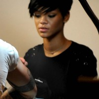 Rihanna's illegal tattoo fun