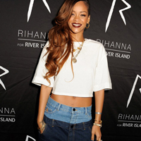 Rihanna Wears Double Jeans at River Island After Party!