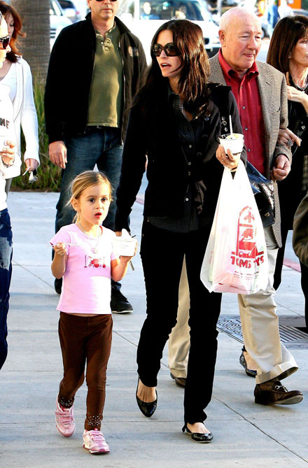 Famous celebrity godparents and godchildren - Courteney Cox and Coco