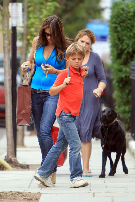 Famous celebrity godparents and godchildren - Elizabeth Hurley's son Damian