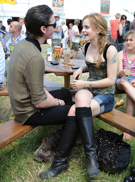 Emma Watson and boyfriend George Craig at 2010 Glastonbury Music Festival