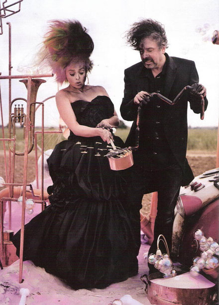 Famous celebrity godparents and godchildren - Tim Burton and Helena Bonham Carter