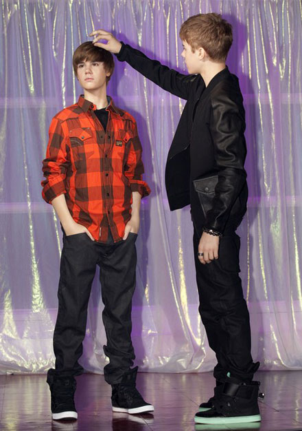 Justin Bieber's wax figure has his trademark haircut