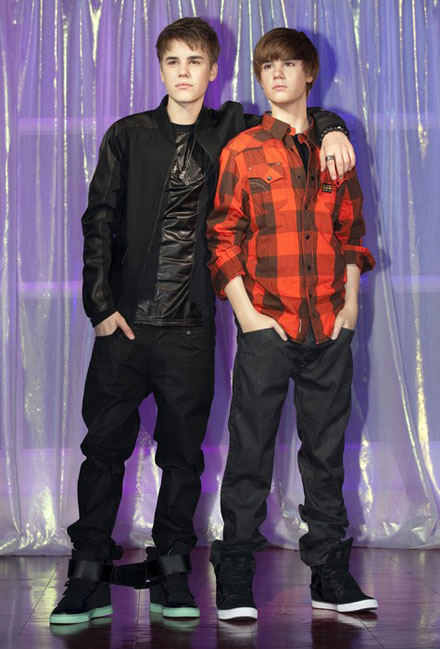 Justin Bieber presents his first wax figure in London