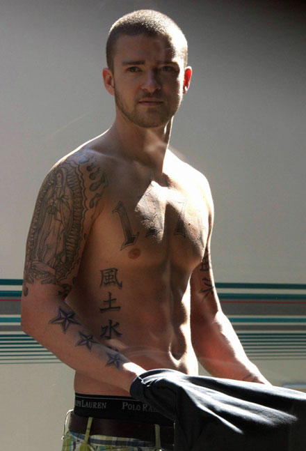 Shirtless Justin Timberlake from Alpha Dog