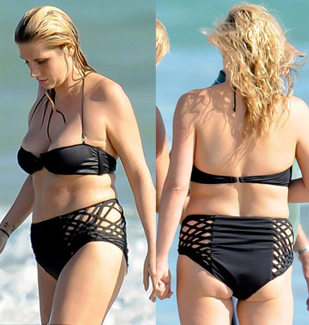 Ke$ha's ass is ugly n a bikini