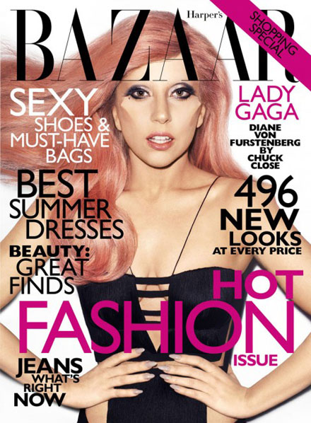 Lady GaGa covers Harper's Bazaar May 2011 issue