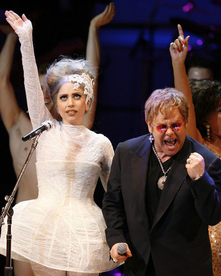 Famous celebrity godparents and godchildren - Lady GaGa and Elton John