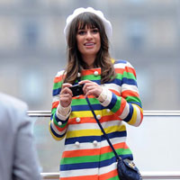 Lea Michele &#8211; a stripy Gleek in New York