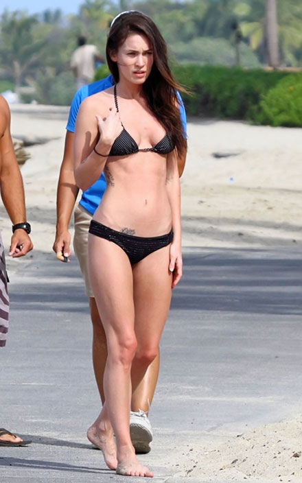 Megan Fox in bikini on Christmas