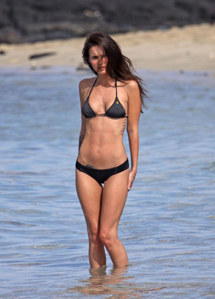 Megan Fox's hot body in a bikini in Hawaii