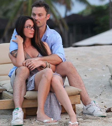 Megan Fox and Brian Austin Green pose for first post wedding pictures