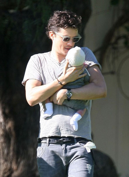 Orlando Bloom and Miranda Kerr's newborn son Flynn