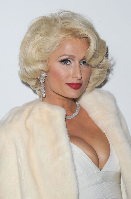 Paris Hilton goes Marilyn Monroe to launch new perfume Tease in retro style