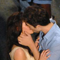 Carried away: Robert Pattinson says what it&#8217;s like to kiss Kristen Stewart